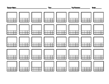 Seating Chart (up to 40 students)