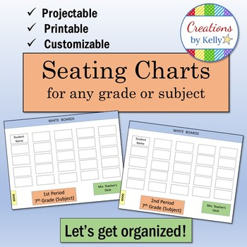 Seating Charts (Editable, Projectable, and Printable) for all grades