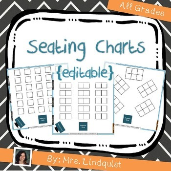 seating charts editable back to school