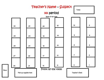 Seating Charts - editable FREEBIE!
