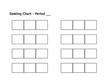 Seating Template groups of 3 - customizable