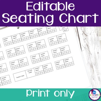 Seating and Attendance Chart - Editable