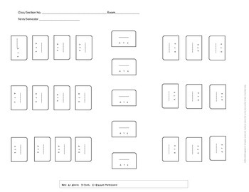 23 Seating and Organization Charts for the Larger Class - EDITABLE EDITION