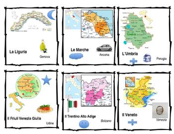 Seating cards Italian