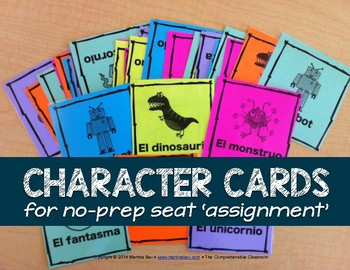 Form: Seating chart character cards