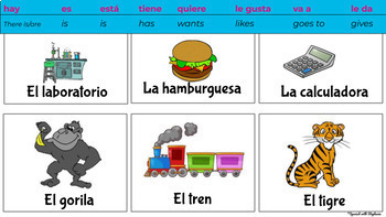 Seating chart cognate cards (Spanish)