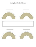 Seating chart template for small groups (horseshoe table)