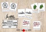 Seattle 3 Part Cards (English)  Montessori シアトル絵カード  モンテッソーリ