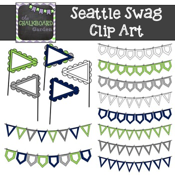 Seattle Banners & Pendants Clip Art