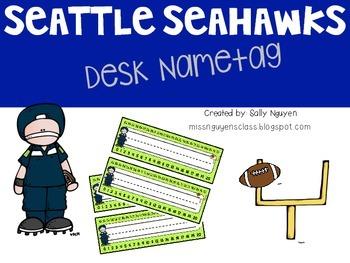 Seattle Seahawks Desk Nametag