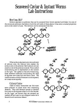 Seaweed Caviar & Instant Worms (Chemistry)