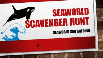 Seaworld San Antonio Scavenger Hunt