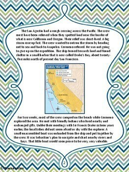 Sebastian Cermeno: California Explorer - Engaging Close Reading and Activities