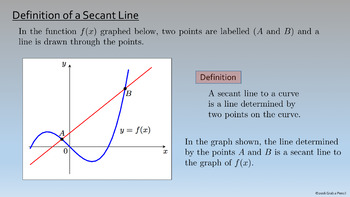 AP Calculus: Secant Lines and Tangent Lines Complete Lesson