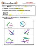 Secant & Tangent (circles) Partner Paper