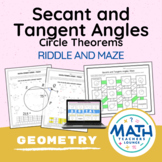 Geometry Circle Theorems: Secant and Tangent Angles - Puzz