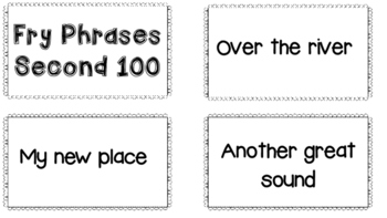 Second 100 Fry Phrases