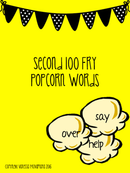 Second 100 Fry Popcorn Words