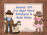 Second 100 Fry Sight Word Envelopes & Bank Notes