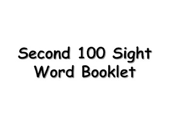Second 100 Fry Sight Words