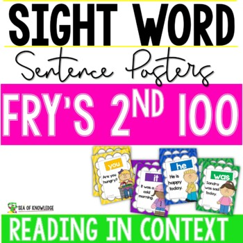 Sight Word Sentence Posters - Fry's Second 100