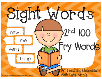 Second 100 Fry Words: Sight Word Cards: FREEBIE!