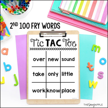 Second 100 Fry Words: Tic Tac Toe Boards