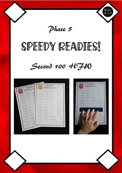 Second 100 High Frequency Words Sight Words Fluency Practice