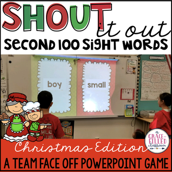Fry's Second 100 Sight Word: Shout It Out (Christmas Edition)