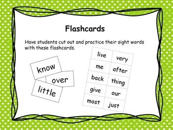 Second 100 Sight Words Pack