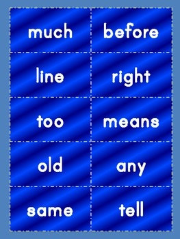 Second 100 Sight Words for Word Walls and Flashcards