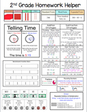 Second (2nd) Grade Math Homework Helper - Common Core