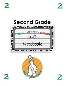 Second (2nd) Grade Science Notebook English AND Spanish in One
