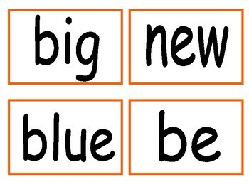 "Second ""30"" Sight Words - Flash Cards"