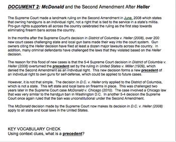 Second Amendment:  Research and Class Debate (Gr. 7-12)