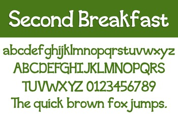 Second Breakfast Font for Commercial Use