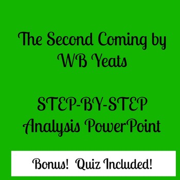 Second Coming (Yeats) PowerPoint and Quiz
