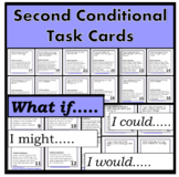 Second Conditional TASK CARDS for speaking - PPT included