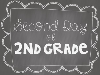 Second Day of Second Grade Poster