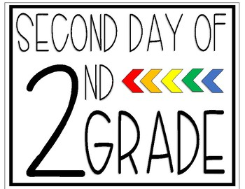 Second Day of Second Grade Sign