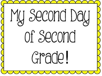 Second Day of Second Grade Signs