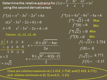 Second Derivative Test (PP)