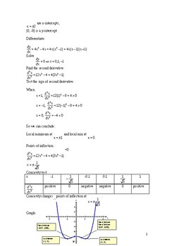 Second Derivative and Points of Inflections
