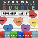 Second Five Hundred Fry Sight Words - Heart Word Wall Bundle