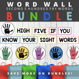 Second Five Hundred Fry Sight Words - High Five Word Wall Bundle