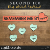 Second Fry Sight Words - Heart Word Wall
