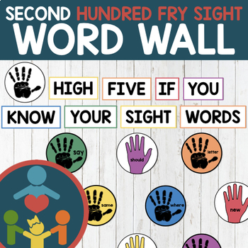 Second Fry Sight Words - High Five Word Wall