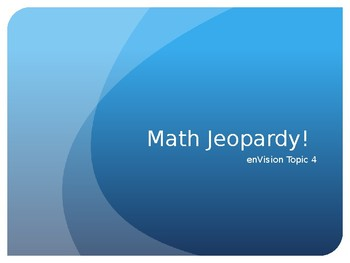 Second Garde enVision Topic 4 Jeopardy Game