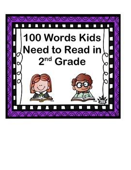 Second Grade 100 Sight Words