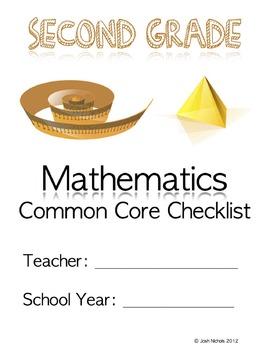 Second Grade (2nd Grade) CCSS Common Core Checklist and Report Document